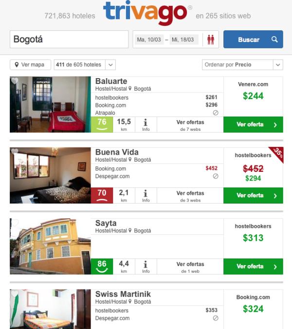 Hoteles baratos Bogota 50pc