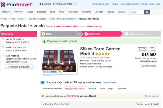 Paquete de viaje a Madrid