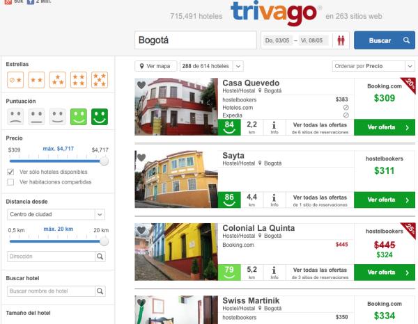 Hoteles baratos Bogota