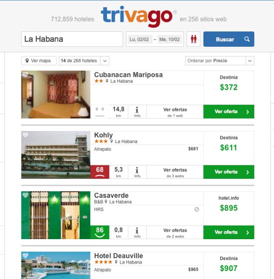 Ofertas hoteles Cuba