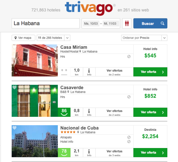 Hoteles Habana Trivago