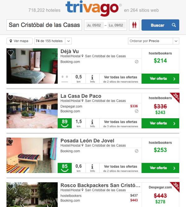 Hoteles baratos en Chiapas