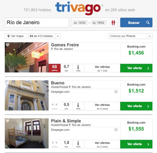 Oferta hoteles Carnaval Brasil