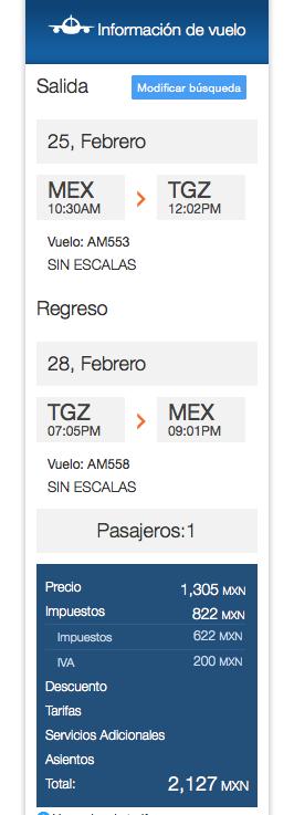 Viaje DF_Tuxtla Gutierrez