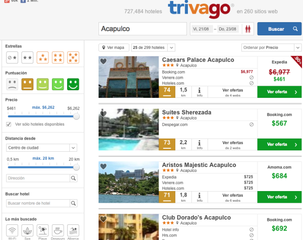 Hoteles 3 estrellas Acapulco