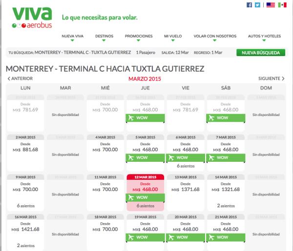 Vuelo ida Monterrey_Tuxtla