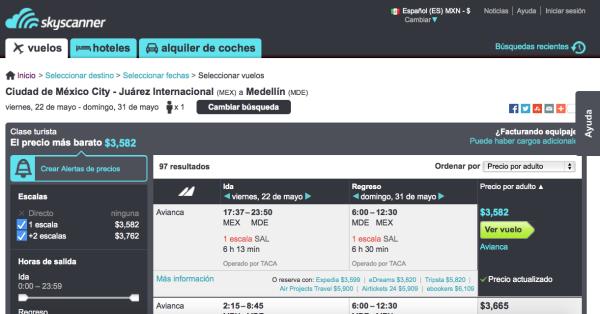 Vuelo redondo Medellin Skyscanner