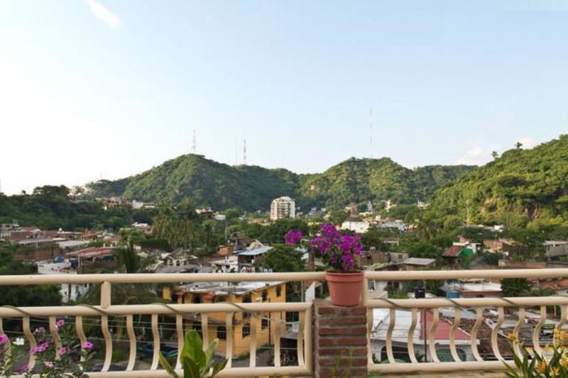 Vista desde el Hostel Oasis en Puerto Vallarta