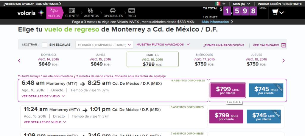 Monterrey vuelo