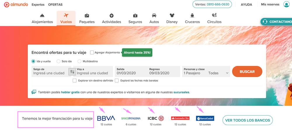 Ofertas vuelos desde Argentina en Almundo.com
